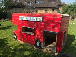 The play bus in the garden at Bugbrooke Pre-school
